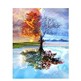 DAMENGXIANG DIY Hand Gemalt Digitale Öl Malerei Four Seasons Baum Landschaft Moderne Kunst Bilder Für Wohnzimmer Home Decor
