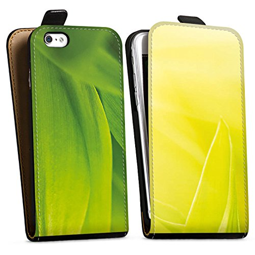 Apple iPhone X Silikon Hülle Case Schutzhülle Grashalm Blätter Natur Downflip Tasche schwarz