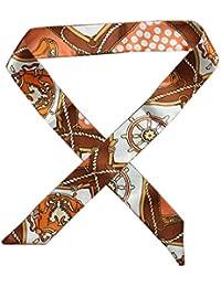 Dabixx Bufanda de Seda de imitación de múltiples usos Twilly Correa de muñeca Bolsa de Cinta