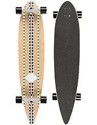 Ultrasport Carving - Monopatín Longboard para el cruising en la ciudad y el parque, color verde / negro / marrón