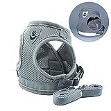 dianzishangcheng Hundegeschirr, mittelgroß, mit Griff, verstellbar, gepolstertes Hundegeschirr, reflektierendes Netzgewebe, leicht zu kontrollieren, für Outdoor-Training, Spaziergänge