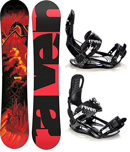 Snowboard Set: Snowboard Raven Dragon + Bindung Raven s220 Black M