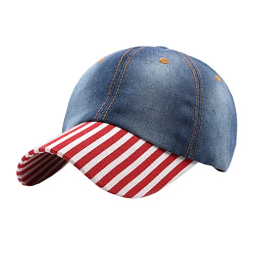ACVIP Homme Femme Ajustable Chapeau de Baseball Casquette Visière Jean Plate Hat Outdoor Sport