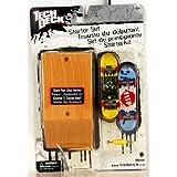 Tech Deck - 25751 - 96 mm Fingerboard - Starter Set / Set de Principiante - 'FLIP' - con 2 Fingerboards, Caso, Herramienta y Conectores