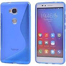 Huawei Honor 5X Funda,COOLKE Soft TPU Gel Funda Carcasa Tapa Case Cover Para Huawei Honor 5X/ Honor X5/ GR5 - Azul