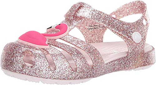 Crocs isabella charm sandal k, pantofole unisex-bimbi, rosa (blush 000) 20/21 eu
