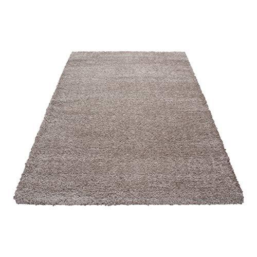 Pelo alto montone pecora tappeto shaggy tappeto a pelo lungo pelo lungo pelo liscio coccolone altezza pelo 45 mm, farbe:beige, maße:160x230 cm