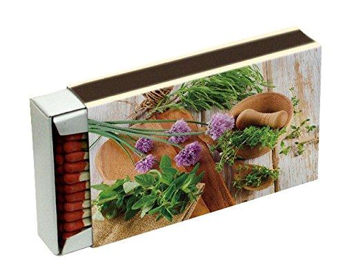 weidenholzer d'allumage pour barbecue cheminée et bougies Camino 10 cm, motifs divers KM Match 10 Stk Kräuter
