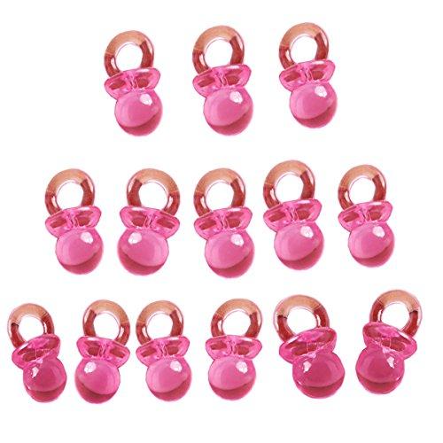 Beyond Dreams 50 Rosa Baby Mini Schnuller für Babyparty Baby Dusche | Baby Shower | Geschenk Mitgebsel Mitbringsel für Taufe Kinderparty | Tischdeko Dekoration (Erinnerung Baby-dusche)
