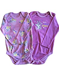 Filles manches longues Body bébé grenouillère Rose x 2jeux Tweety & bugs- Rose