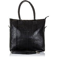 c3c83859d6b Bolso shopping bag de mujer piel auténtica.Bolso hombro cuero genuino piel