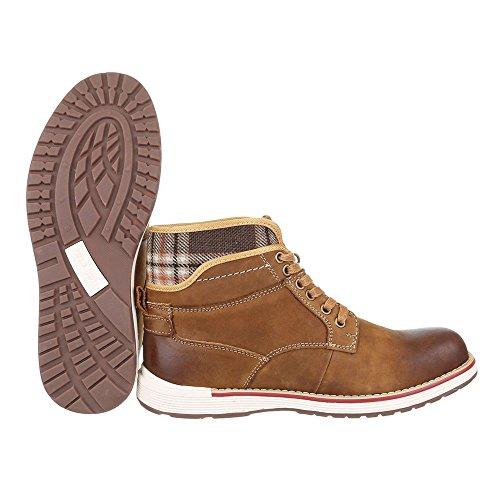 Ital-Design , Desert boots homme Camel