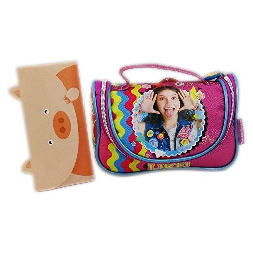 Disney Soy Luna Smile Feder Tasche Kosmetik Make-up Bag Aufbewahrungtasche (Minnie Maus Sweet 16)