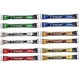Cyalume SnapLight Leuchtstäbe, 15,2 cm, Industrie-Qualität, mehrfarbig, 12 Stück (Grün, Weiß, Rot, Orange, Gelb, Blau)