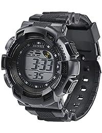 Coconano Relojes Hombre, Hombres De Moda Led Alarma Digital Fecha Caucho Reloj Del Ejército Reloj