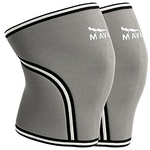 Mava Sports genouillère 7mm en néoprène manches pour Cross Training,