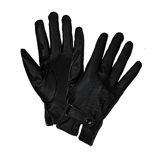 Sense42 Gants Elegant Similicuir Touchscreen Dames Noires Diverses conceptions M/L & L/XL Noir Modèle 2