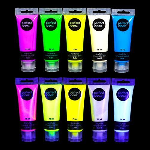 perfect ideaz Schwarzlicht Acrylfarbe