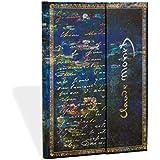 Carnet PAPERBLANKS Ligné - Midi 130x180 mm - modèle Les Manuscrits Estampés série Monet (Nénuphars), LettreàMorisot