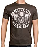 Coole-Fun-T-Shirts T-Shirt Lynyrd Skynyrd Biker MC, grau, XXL, FT208