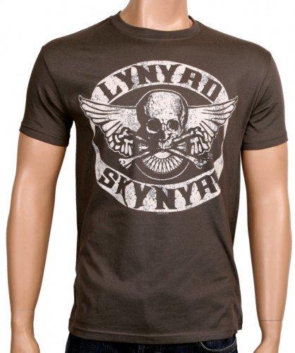 Coole-Fun-T-Shirts - T-Shirt Lynyrd Skynyrd Biker Mc - Neu, T-shirt, grigio(grau), M