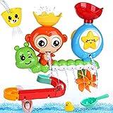 BBLIKE Jouet Bain, 14 Pcs Jouet de Bain Cascade Interactif, Jouets pour le Bain bébé pour Baignoire Jeu de Piscine
