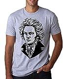 Photo de Ludwig Van Beethoven Famous Composer Sketch Artwor Homme T-Shirt Blanc Gris Noir par RaMedia