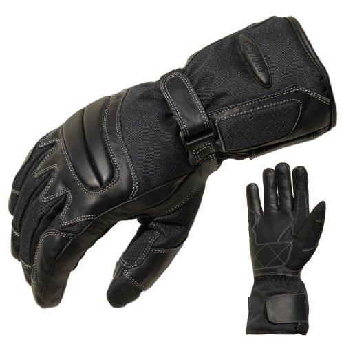 PROANTI Motorradhandschuhe Regen Winter Motorrad Handschuhe Herren Damen - S
