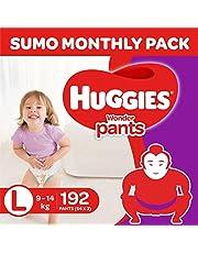 Huggies Wonder Pants Diapers Sumo Pack, Large (192 Count)