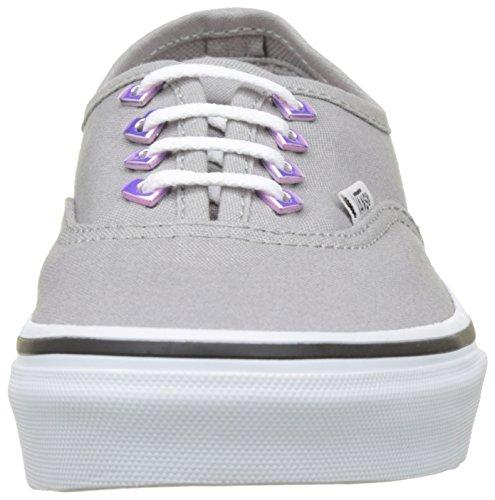 Vans Mädchen Uy Authentic Sneakers Grau (Eyelet)