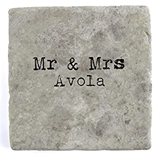 Mr & Mrs Avola - Single Marble Tile Drink Coaster