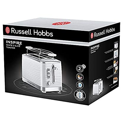 Russell-Hobbs-24370-56-Toaster-Inspire-White-Lift-and-Look-Funktion-bis-zu-6-einstellbare-Brunungsstufen-extra-breite-Toastschlitze-Brtchenaufsatz-weiss