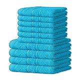 10 tlg. flauschiges Handtuch-Set