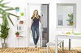 Insektenschutz Fliegengitter Gaze Plissee Tür Kunststoff 125 x 220 cm