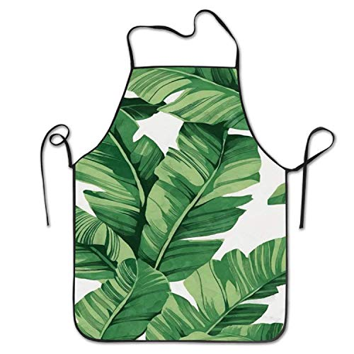 Womens Leaf (ghfghgfghnf Tropical Plant Banana Tree Leaves Women's Men's Funny Creative Print Cooking Aprons)