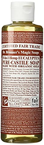 Dr. Bronner's - Savon de Marseilles Bio à l'Eucalyptus, 250 ml