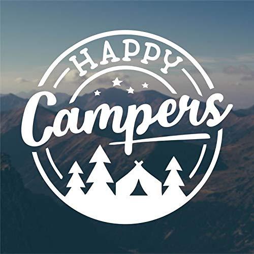 CLIFFBENNETT Cliffbennet Happy Campers Aufkleber, Vinyl-Aufkleber, Wohnmobil-Aufkleber, Auto-Aufkleber, Abenteuer-Aufkleber, Jeep-Aufkleber, Camping-Aufkleber, Wander-Aufkleber, Top