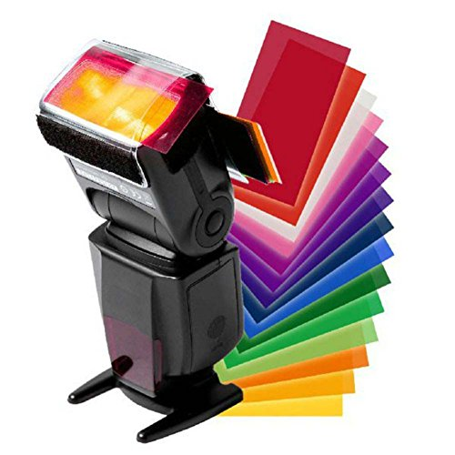 -Farbfolien 12Stück inkl. Befestigung für Blitzgerät Nikon Speedlight SB-16A, SB-300, SB-400, SB-500, SB-600, SB-700, SB-800 ()