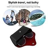 FairytaleMM Durable PU Leder Brillenetui Sonnenbrille Brillen Lagerung Inhaber Box Tasche