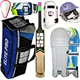 SB SS Academy English Willow Cricket Kit With Leather Ball(12-14 Year)