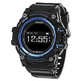 Romacci Smart Sports Watch Orologio da Polso Intelligente Sportivo MultifunzionemIOS8.0 & Android 4.4 e Inferiore Pedometro/Frequenza cardiaca/Sveglia/Ripresa a distanza/Monitoraggio di Sonno