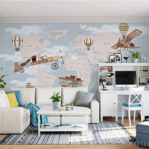 VVNASD 3D Dekorationen Aufkleber Wandbilder Wand Tapete Kinderzimmer Hintergrund Retro Raumschiff Sky Theme Kunst Kinder Zimmer (W) 300X(H) 210Cm