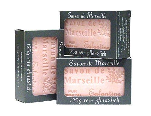 100% Naturseife: 3 x Wildrosenseifen à 125 Gr, Seifenset (Savon de Marseille) (Rose Marseille Savon De)