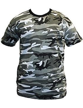 Dallaswear Herren T-Shirt, Camouflage, Militär-Design, Größen S-3XL - - Urban - xl