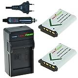 ChiliPower NP-BX1 Kit; 2x Batterie (1350mAh) + Chargeur pour Sony Cyber-shot DSC-HX50V, DSC-HX300, DSC-RX1, DSC-RX1R, DSC-RX100, DSC-RX100 II, DSC-WX300, HDR-AS10, HDR-AS15, HDR-AS30V, HDR-MV1