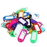Sungpunet 50pezzi portachiavi con multi-colori plastica portachiavi con targhetta ID per casa, uffici, hotel