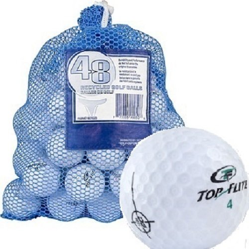 Top Flite Unisex 48 Recycled Golf Balls in Mesh Bag, White, One Size