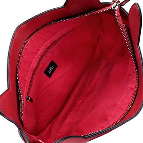 BMC Donna PU ecopelle Gufo Faccia A Forma Di Animale Spalla Borsa Di Modo Red Head