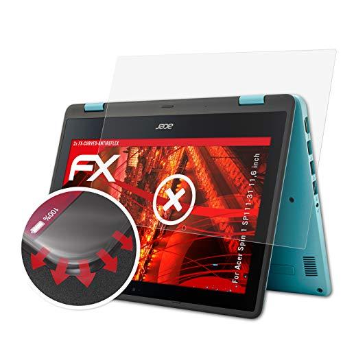 atFolix Schutzfolie passend für Acer Spin 1 SP111-31 11,6 inch Folie, entspiegelnde & Flexible FX Bildschirmschutzfolie (2X)
