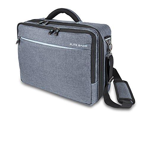 Maletín de asistencia domiciliaria | Modelo STREET'S | Elite Bags | Medidas: 40 x 30 x 16 cm | Colores: negro y gris | Diseño moderno y práctico